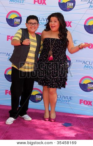 LOS ANGELES - JUL 22:  Rico Rodriguez, sister Raini arriving at the 2012 Teen Choice Awards at Gibson Ampitheatre on July 22, 2012 in Los Angeles, CA