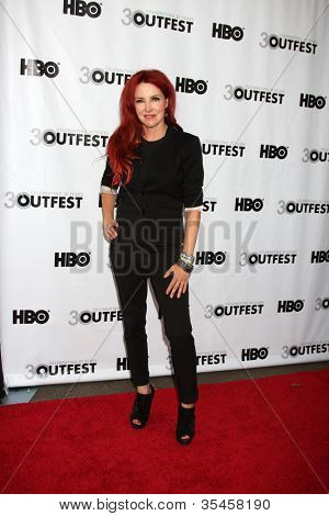 LOS ANGELES - JUL 22:  Gretchen Bonaduci (Re-inventing Bonaduce) arrives agt the 2012 Outfest Closing Night Gala of