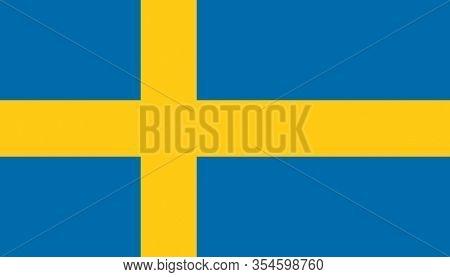 High Resolution Sweden Flag. Sweden Texture. Flag Of Sweden.