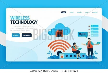Landing Page And Website For Wifi Connection And Protection, Internet Access With Wifi, Wifi Firewal