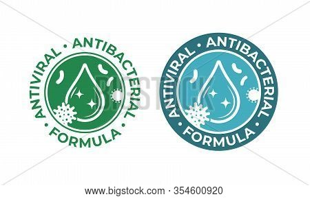 Antiviral Antibacterial Coronavirus Formula Vector Icons. Coronavirus 2019 Ncov, Covid 19 Ncp Virus