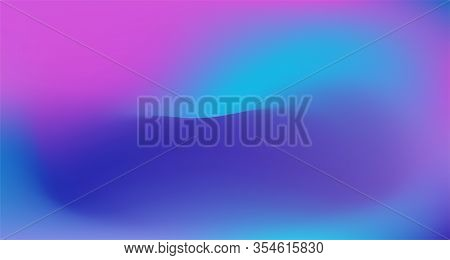 Blue Purple Pink Digital Gradient Background. Elegant Colorful Vibrant Defocused Horizontal Banner.