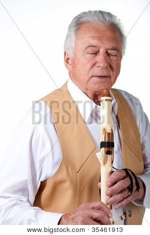 Senior With Flute