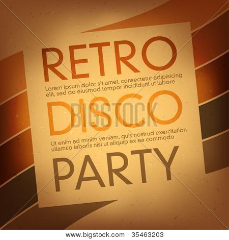 Thematic party flyer. Vector, EPS10
