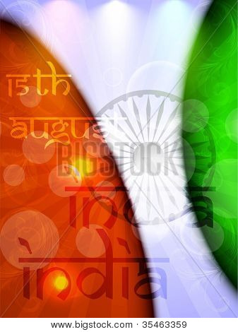 Creative abstract background in Indian Flag color. EPS 10.