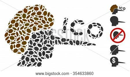 Dot Mosaic Based On Ico Liar. Mosaic Vector Ico Liar Is Composed With Scattered Ellipse Dots. Bonus
