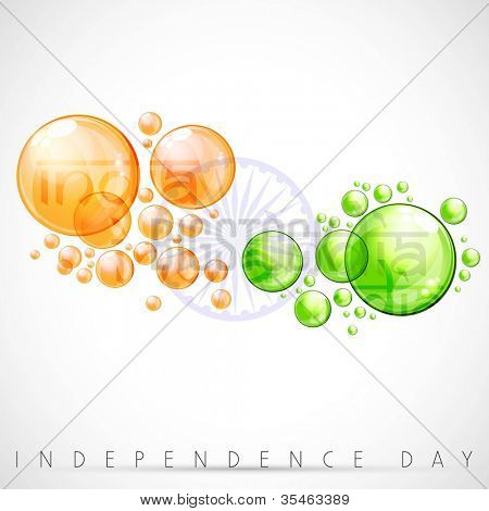 Creative Indian Flag background with water bubbles. EPS 10.
