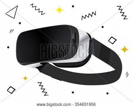 Isolated Stereoscopic 3d Vr Vector Illustration. Vector Virtual Digital Cyberspace Technology. Innov