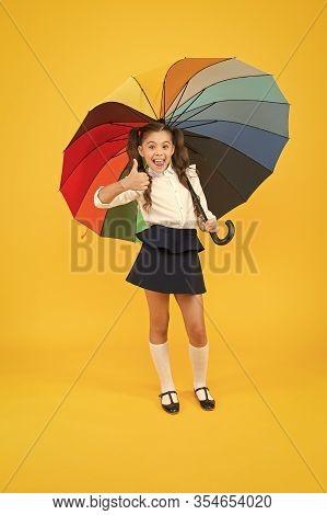 Fashion Accessory. Rainy September. Accessory For Rainy Day. Stay Dry. Fancy Schoolgirl. Girl With U