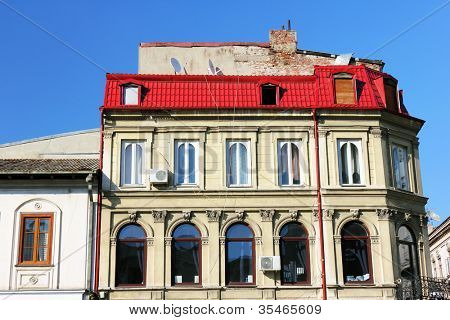 Architectural detail in Bucharest, Romania, Europe
