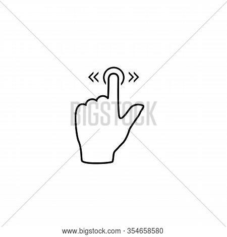 Slide Line Icon Gesture On White. Vector In Modern Flat