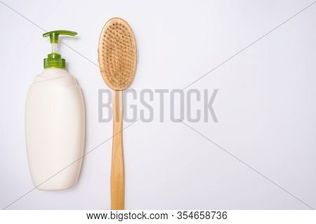Anti-cellulite Products For Prevention And Treatment Of Cellulite And For Body Massage, Wooden Brush