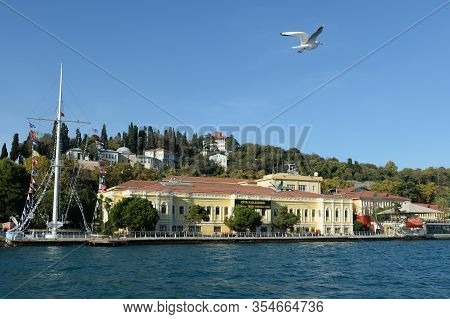 Istanbul,turkey - November 3, 2019:zia Kalkavan Vocational And Technical Lyceum In Anatolia On The S