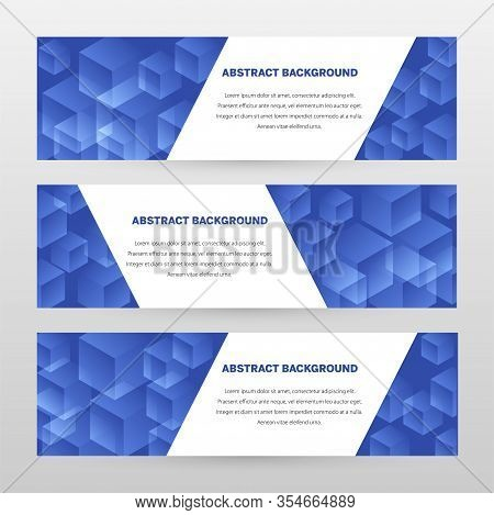 Banner Vector Design. Abstract Background Template For Banner Design, Business, Education, Advertise