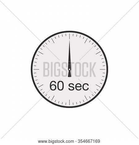 Simple 60 Seconds Or 60 Minutes Timer. Stock Vector Illustration Isolated On White Background.