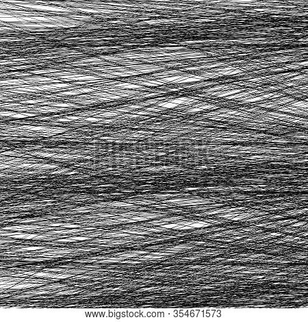 Thin Diagonal Straight Crossed Lines (hatch Work) Abstract Texture. Monochromatic Criss Cross Geomet