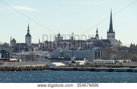 April 21, 2018, Tallinn, Estonia. View Of The Construction Of The Old Town In Tallinn.