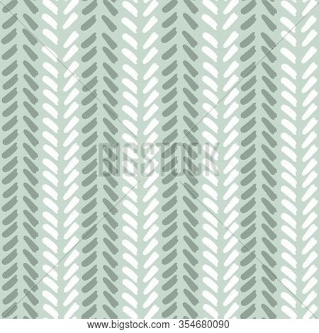Mint Teal Geometric Abstract V Shaped Line Pattern. Seamless Repeat. White V Shapes With Teal Backgr