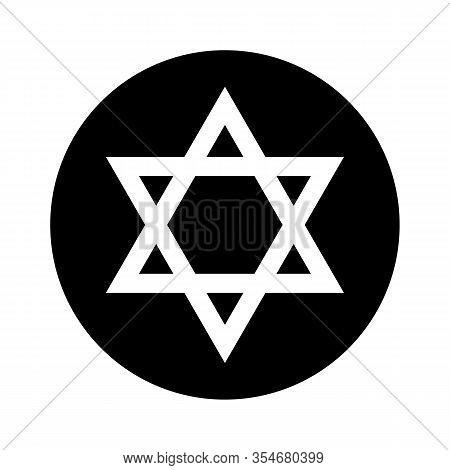 Star Of David Icon Jewish Tradition Biblical Symbol Isolated Vector Illustration Israel Flag And Nat