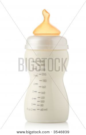 Baby Feeding Bottle Filled With Milk