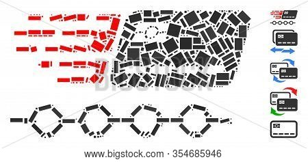 Dot Mosaic Based On Rush Grace Credit Periods. Mosaic Vector Rush Grace Credit Periods Is Created Wi
