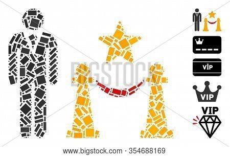 Dot Mosaic Based On Prestige Entarnce. Mosaic Vector Prestige Entarnce Is Designed With Scattered Re