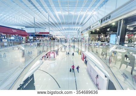 Hong Kong, China - April 15, 2015 : Terminal Of Hong Kong International Airport In Hong Kong, China.