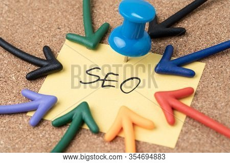 Seo Search Engine Optimization, Keywords Marketing To Drive Traffic To Website Concept, Thumbtack Pu