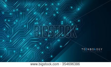 Blue Futuristic Circuit Cyberspace Technology Abstract Vector Background,creative Circuit Connection