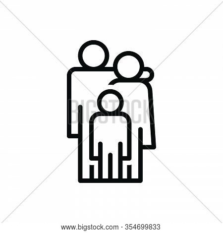 Black Line Icon For Parent Ancestor Mother Father Progenitor Guardian Baby Member