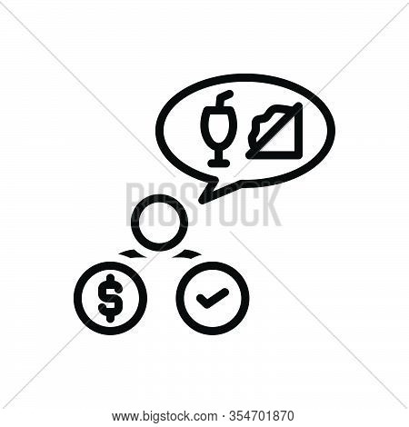Black Line Icon For Need Necessity Exigency Demand Requirement  Needfulness