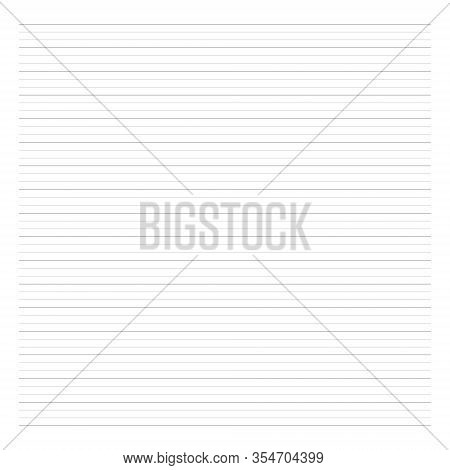 Notebook Lined Paper Sheet. Groups Of Three Lines. Exercise Book Page. Perfect For Planner, Notebook