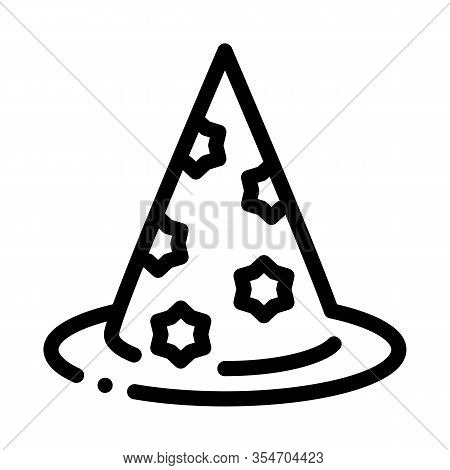 Magician Hat Icon Vector. Outline Magician Hat Sign. Isolated Contour Symbol Illustration