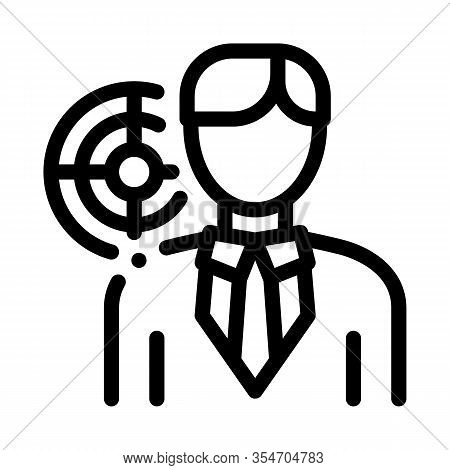 Human Purpose Icon Vector. Outline Human Purpose Sign. Isolated Contour Symbol Illustration