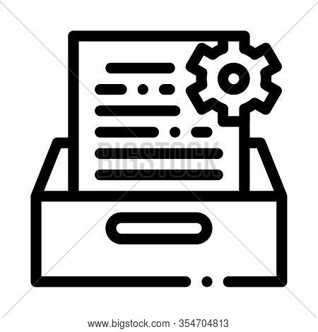 Document Treat Icon Vector. Outline Document Treat Sign. Isolated Contour Symbol Illustration