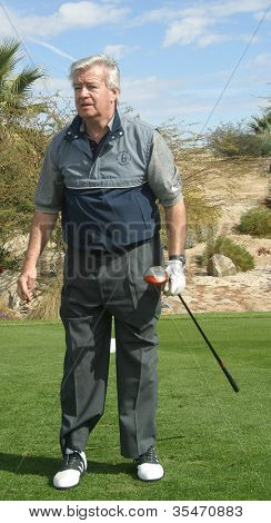 PALM SPRINGS - FEB 7: Ron Masak at the 15th Frank Sinatra Celebrity Invitational Golf Tournament at Desert Willow Golf Course on February 7, 2003 in Palm Springs, California