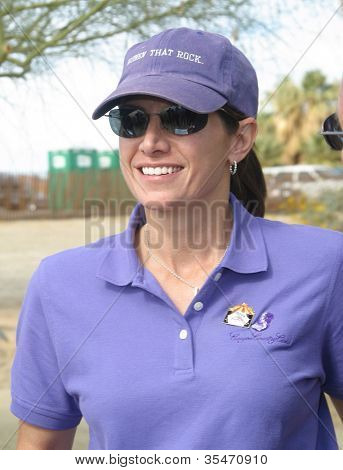 PALM SPRINGS - FEB 7: Mary Bono at the 15th Frank Sinatra Celebrity Invitational Golf Tournament at Desert Willow Golf Course on February 7, 2003 in Palm Springs, California