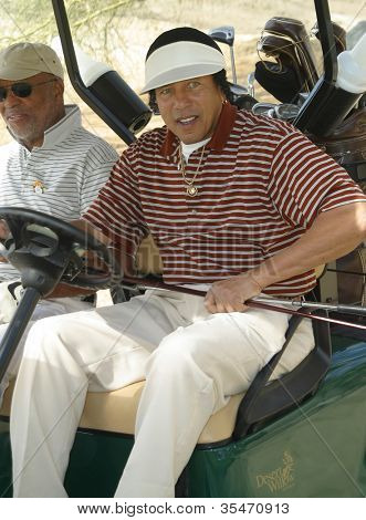 PALM SPRINGS - FEB 7: Smokey Robinson at the 15th Frank Sinatra Celebrity Invitational Golf Tournament at Desert Willow Golf Course on February 7, 2003 in Palm Springs, California