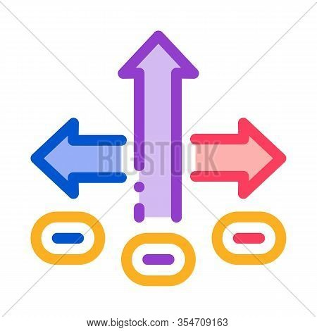 Choice Decision Icon Vector. Outline Choice Decision Sign. Color Isolated Contour Symbol Illustratio