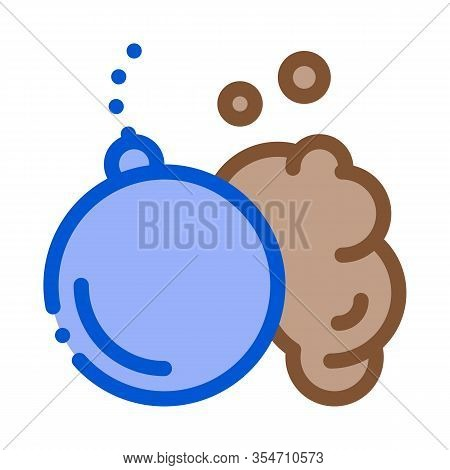 Wrecking Ball Icon Vector. Outline Wrecking Ball Sign. Color Isolated Contour Symbol Illustration