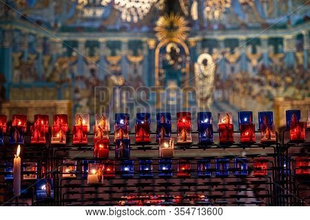 Inside The Basilica Of Notre-dame Of Fourviere, La Basilique Notre Dame De Fourviere In Lyon, France