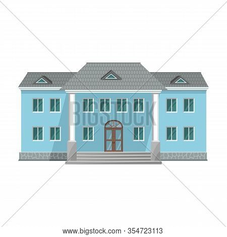 Building Of Government Vector Icon.cartoon Vector Icon Isolated On White Background Building Of Gove