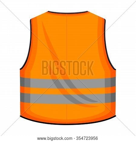 Safety Vest Vector Icon.cartoon Vector Icon Isolated On White Background Safety Vest.