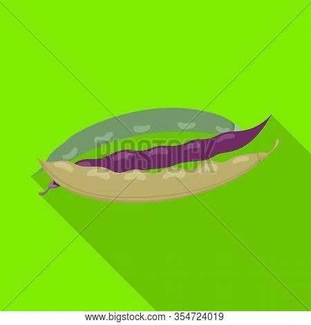 Bean Of Pod Vector Icon.flat Vector Icon Isolated On White Background Bean Of Pod.