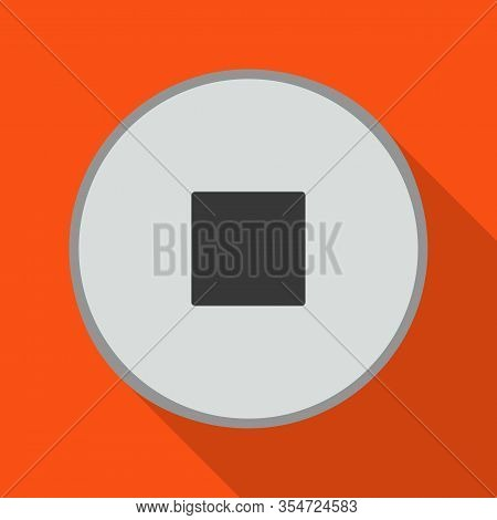 Fastener Head Vector Icon.flat Vector Icon Isolated On White Background Fastener Head.