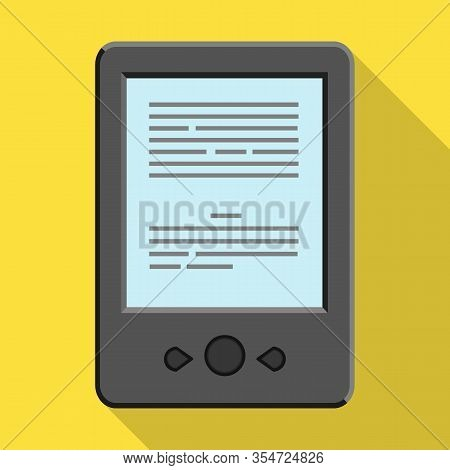 Ebook Vector Icon.flat Vector Icon Isolated On White Background Ebook .