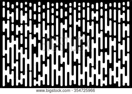 White Lines Gradient Pattern. Vertical Halftone Line Texture. Abstract Template Using Half Tone Back