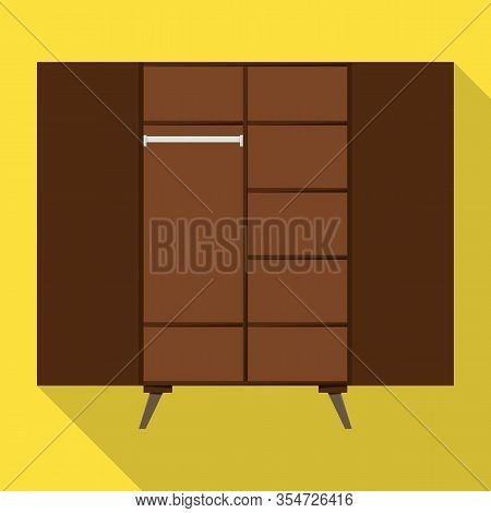 Closet Vector Icon.flat Vector Icon Isolated On White Background Closet .