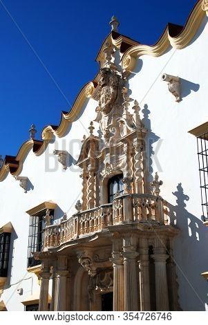 Front View Of The Marques Gomera Palace (palacio Del Marques De La Gomera), Osuna, Seville Province,