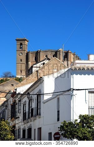 View From The Lower Town With Santa Maria Church On The Hill (iglesia Colegial De Santa Maria), Osun